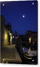 Acrylic Print featuring the photograph Venice Moon by Pat Purdy
