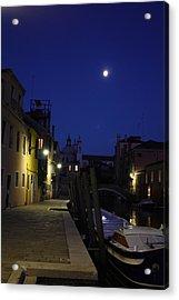 Venice Moon Acrylic Print by Pat Purdy