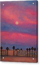 Venice Moonrise Acrylic Print by Pia Tohveri