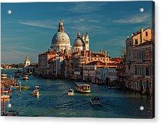 Venice Morning Traffic Acrylic Print by Andrew Soundarajan