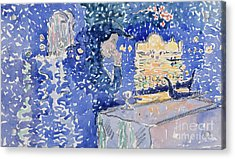 Venice  Night Of The Festival Of The Redeemer, 1903 Acrylic Print by Henri Edmond Cross