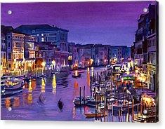 Venice Nights Acrylic Print by David Lloyd Glover
