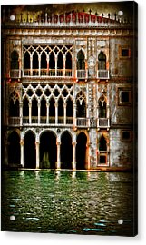 Acrylic Print featuring the photograph Venice Palace  by Harry Spitz