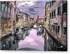Venice Pastel Italian Cityscapes Art Acrylic Print by S Art