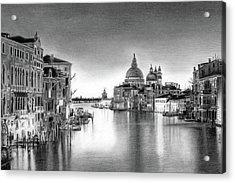 Venice Pencil Drawing Acrylic Print