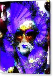 Venice Purple Carnival Mask Acrylic Print