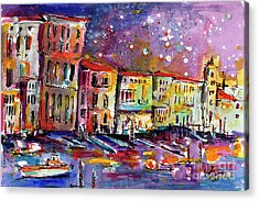 Acrylic Print featuring the painting Venice Reflections Celebrating Italy Painting by Ginette Callaway