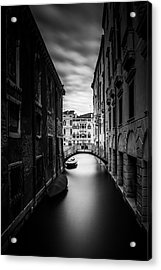Venice Residential Canal Acrylic Print by Andrew Soundarajan