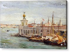 Venice Acrylic Print by Sir Samuel Luke Fields