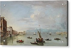 Venice  The Fondamenta Nuove With The Lagoon And The Island Of San Michele Acrylic Print