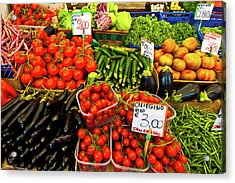 Acrylic Print featuring the photograph Venice Vegetable Market by Harry Spitz