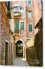 Venice- Venezia-calle Veneziana Acrylic Print