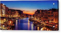 Acrylic Print featuring the photograph Venice View At Twilight by Andrew Soundarajan