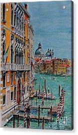Venice, View From Academia Bridge Acrylic Print