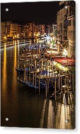 Venice View From Rialto Bridge Acrylic Print