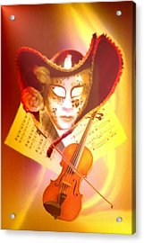 Venice Violinist Acrylic Print by Norman Reutter