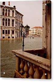 Acrylic Print featuring the photograph Venice Waterway by Nancy Bradley