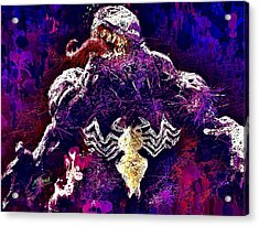 Acrylic Print featuring the mixed media Venom by Al Matra