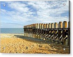 Ventnor Beach Groyne Acrylic Print by Rod Johnson