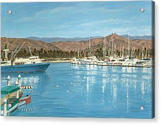 Ventura Harbor And The Two Trees Acrylic Print by Tina Obrien
