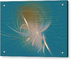 Acrylic Print featuring the digital art Venus Born Out Of The Sea by Menega Sabidussi