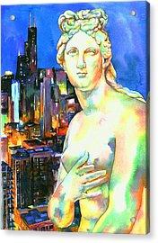 Venus In The City Acrylic Print by Christy  Freeman