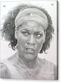Venus Williams Acrylic Print by Blackwater Studio