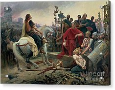 Vercingetorix Throws Down His Arms At The Feet Of Julius Caesar Acrylic Print by Lionel Noel Royer