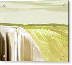 Verdant Cliffs Acrylic Print by Tim Stringer
