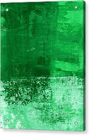 Verde-  Contemporary Abstract Art Acrylic Print by Linda Woods