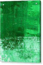 Verde-  Contemporary Abstract Art Acrylic Print