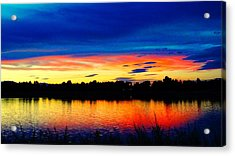 Acrylic Print featuring the photograph Vermillion Sunset by Eric Dee