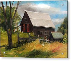 Vermont Barn Acrylic Print by Nancy Griswold