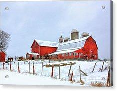 Acrylic Print featuring the digital art Vermont Barn by Sharon Batdorf