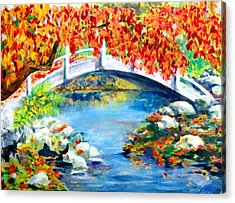 Vermont Bridge Acrylic Print by Lyn Vic