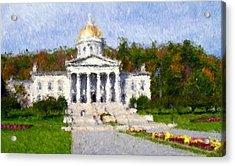 Vermont Capital Acrylic Print by Ralph Liebstein
