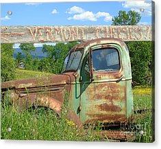 Vermont Cheese Acrylic Print by Susan Lafleur