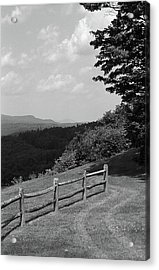 Acrylic Print featuring the photograph Vermont Countryside 2006 Bw by Frank Romeo