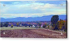 Vermont Countryside In Autumn Acrylic Print by Catherine Sherman