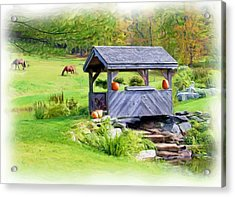 Vermont-countryside Acrylic Print by Ralph Liebstein