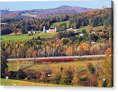 Vermont Countryside View Pownal Acrylic Print by John Burk