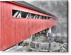 Vermont Covered Bridge Acrylic Print by Steve Brown