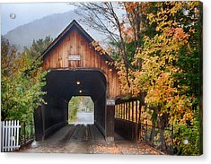 Vermont Fall Colors Over The Middle Bridge Acrylic Print