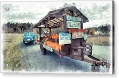 Vermont Farm Stand Acrylic Print by Edward Fielding