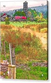 Vermont Farmland 3 Acrylic Print by Steve Ohlsen