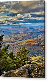 Vermont Foliage From Mt. Ascutney Acrylic Print