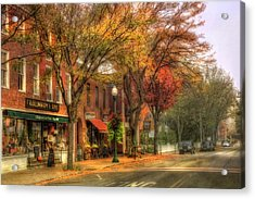 Vermont General Store In Autumn - Woodstock Vt Acrylic Print
