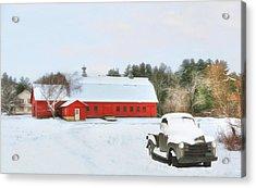 Acrylic Print featuring the digital art Vermont Memories by Sharon Batdorf