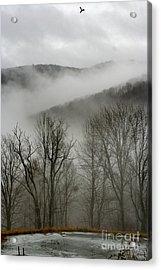 Vermont Mist Acrylic Print by Paula Deutz