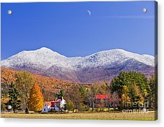 Vermont October Moonrise Acrylic Print by Alan L Graham